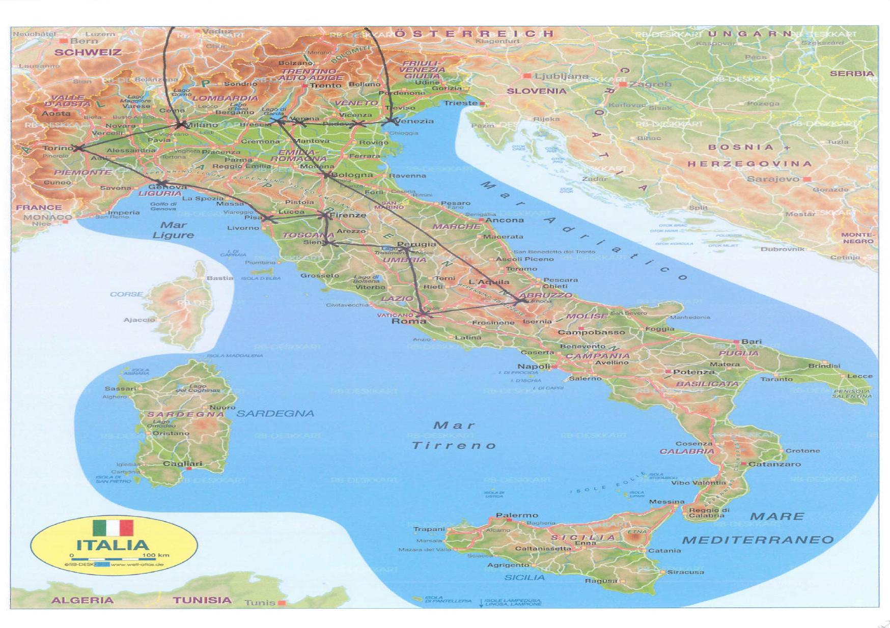 tour durch italien